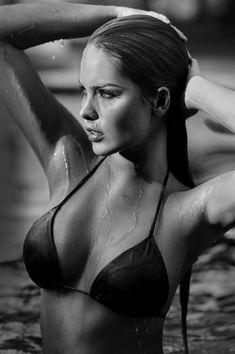 Melissa Giraldo bikini black and white photography plus 1/1  from Kythoni's Lingerie & Swimwear in B&W board http://www.pinterest.com/kythoni/lingerie-swimwear-in-bw/ m.20.10 #KyFun
