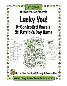 $3.00  Fun St. Patrick's Day Game for practicing words with r-controlled vowels.