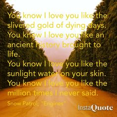 """Engines"" by Snow Patrol 