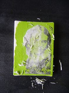 The Technique Zone: Acrylic Paint Transfer--need acrylic paint 'dabbers' cause says the paint is 'chalkier' and this seems to help with the transfer of image whether on canvas or paper.