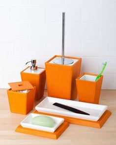 Orange bathroom on pinterest 27 pins for Orange toilet accessories