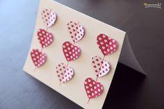 Románticas tarjetas de papel