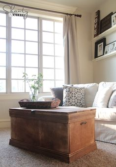 DIY::Pottery Barn Inspired Trunk-Coffee Table Tutorial  ! (Less than One third the cost of the original) ! by @Shanti Paul Paul Leeuwen Yell-2-Chic.com