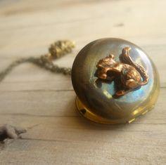 A squirrel locket <3