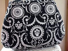 Handbag Purse Tote Retro Black and White Damask. $37.00, via Etsy. #SYLink