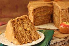Caramel Apple Cake with Salted Caramel Buttercream - SugarHero