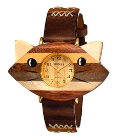 omg. it's a wood cat watch! (by Shivas)