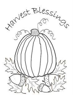 *Freebie* Harvest Blessings Stitchery
