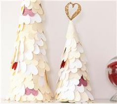 Add as many hearts as you desire to create this fun heart tree!