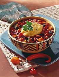 Bean Ragoût with Cilantro-Cornmeal Dumplings