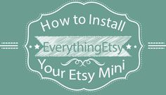 How To Install Your Etsy Mini in WordPress {video} l EverythingEtsy.com #Etsy #Business
