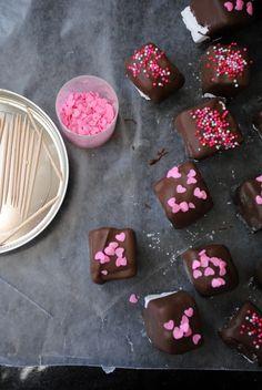 Valentine Marshmallows... See Alton's original recipe for more flavor ideas