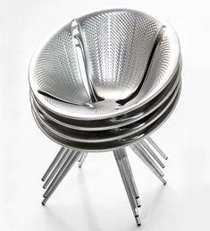 ross lovegrove creates infinitely stackable diatom chair for moroso