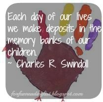 Each day of our lives we make deposits in the memory banks of our children. family quotes, memori bank, famili, children, memories, kid