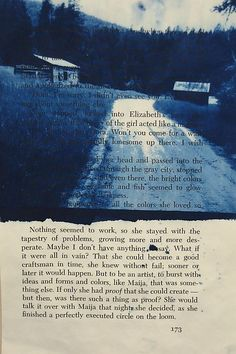 cyanotype on a book!