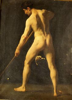 Molin Benoit, 19 th century academy French male nude