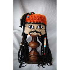 Gorro Tejido A Crochet Jack Sparrow
