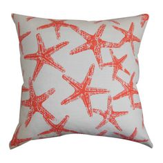 Seafriends Pillow in Salmon - Colorful Shade on Wayfair