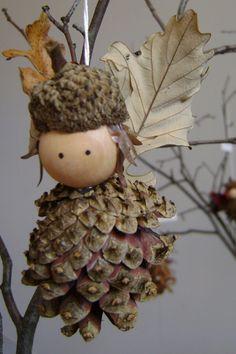 Woodland Fairy - Handmade Christmas ornament by DidymaDesigns on Etsy, $12.00