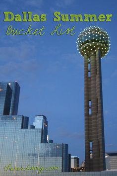 Dallas Summer Bucket List - 20 activities to do with kids in Dallas, Texas this summer!