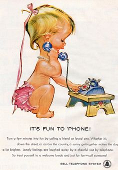 bell telephone system baby 1958