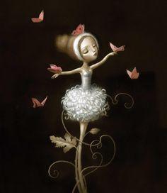 Nicoletta Ceccoli butterfli, heart quot, adagia, nicoletta ceccolli, ilustracion, danc, artist nicoletta, artistnicoletta ceccoli, illustr