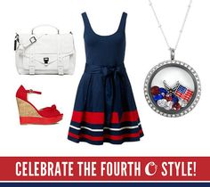 Celebrate the fourth Origami Owl style! #patriotic www.Cameron.origamiowl.com