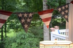 denim jeans, jean banner, craft idea, fourth of july banners, 4th of july