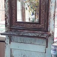 mirrors, door turn, side, road, hall trees, homes, old doors, hall mirror
