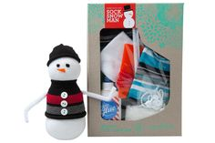 There's nobody like a snowbuddy! Your kiddo will love making & playing with this Sock Snowman.   Honest Sock Snowman DIY Craft Kit, collaboration with Seedling