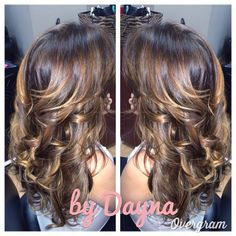 Gorg caramel #balayage #highlights on rich chocolate brown base
