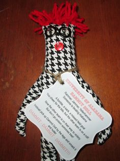 University of Alabama Dammit Doll by tobeesgifts on Etsy, $18.95