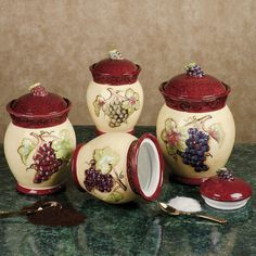 Tuscan Winery Canister Set