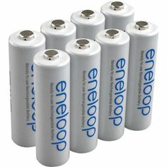 Amazon.com: NEW Sanyo Eneloop 3rd generation 8 Pack AA NiMH Pre-Charged Rechargeable Batteries-Newest version-FREE BATTERY HOLDER- Rechargea...