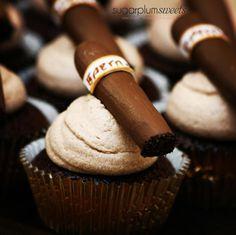 Mocha Mud Cigar Cupcakes ~ Groom's Cake idea for a wedding