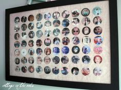 Circle Frame Tutorial...great way to consolidate lots of pics into one frame!