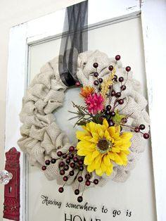 Burlap Bubble Wreath : Decorating : Home & Garden Television