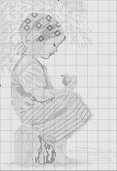 Point de croix *m@* Cross stitch.