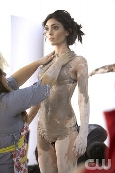 """Sonia Dara"" -- At the shoot with photographer Jonathan Mannion, the models pose wearing mud, and almost nothing else on America's Next Top Model on The CW.  pictured: Mikaela Cycle 16 Photo: Chris Frawley/The CW ©2011 The CW Network, LLC. All Rights Reserved"