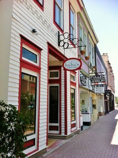 shops in historic center, galveston texas