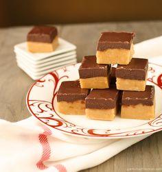 Peanut Butter Fudge with Chocolate Ganache