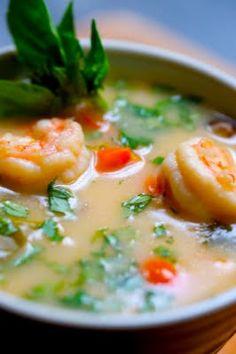 creamy spiced shrimp and coconut soup