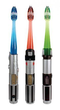 Star Wars lightsaber toothbrushes for kids (or uh, big kids)