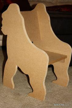 Toddler. Chairs. Boys. Girls. Safari. Theme. Jungle. Spots-4-Tots, LLC. Jacksonville, FL. Custom. www.spots4totsplayhouses.com.