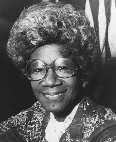 Shirley Chisholm - In 1968 Shirley Chisholm became the first black woman to serve in the United States Congress. Chisholm was a model of independence and honesty and championed for several issues including civil rights, aid for the poor, and women's rights.  In 1972 she ran for President of the United States, making her the first black person to do so.  Although she did not win the Democratic nomination, she gained an impressive 10% of the votes.