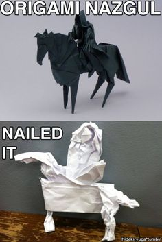 Origami Nazgul    This just totally cracked me up!