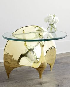 Brass Peacock Table by Jonathan Adler at Horchow.