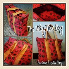 The Nifty Tote Bag....an easy tote bag with photo tutorial from An Onion Exposed. This bag is lined, padded, and has a zipper closure. :)