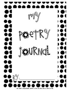 Poetry Journal and prewriting sheets