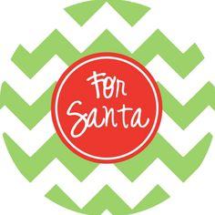 Plate - For Santa, $18 | Haymarket Designs